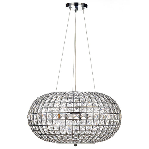 Plaza 3 Light Pendant Polished Chrome