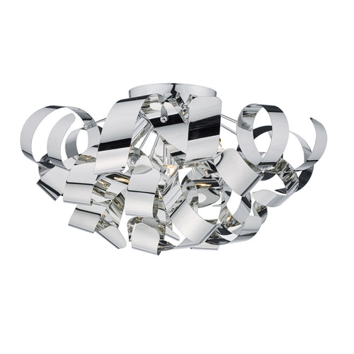 Rawley 5 Light Flush Polished Chrome