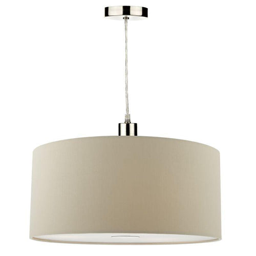 Ronda Easy Fit 40CM Faux Silk Taupe Drum Shade