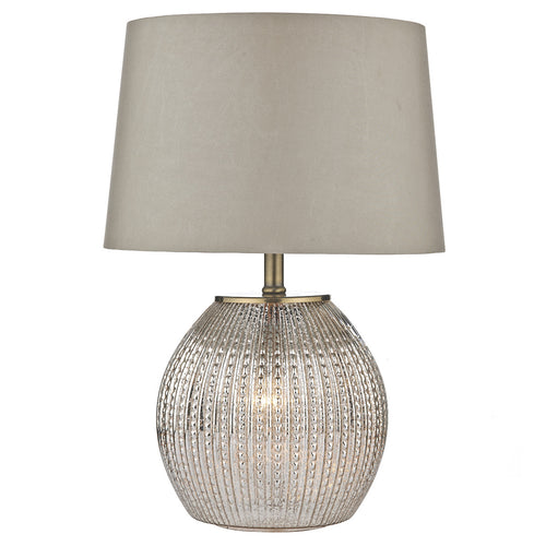 Sonia Table Lamp Antique Silver complete with Shade Dual Source