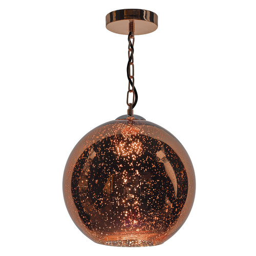 Speckle 1 Light Pendant Speckled Copper Glass