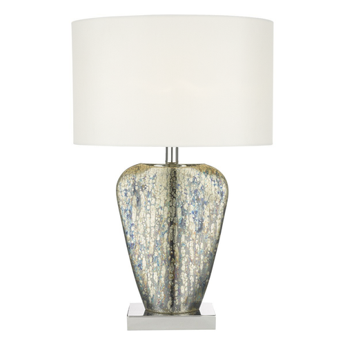 Syracuse Table Lamp Mercury Gold with White Shade