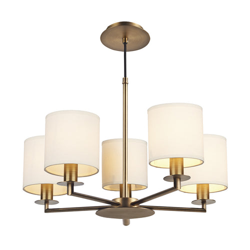 Tyler 5 Light Chandelier Bronze (Shades Exc.)