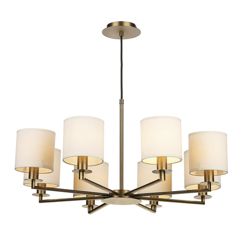 Tyler 8 Light Chandelier Bronze (Shades Exc.)