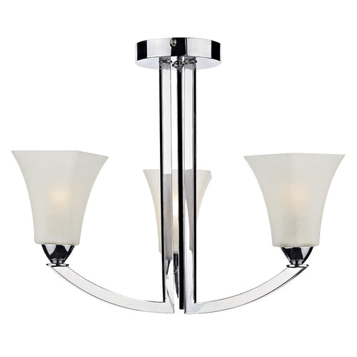Arlington 3 Light Semi Flush Polished Chrome