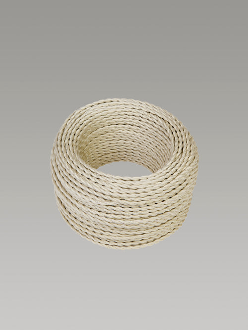 Cavo 1M Cream Braided Twisted 2 Core 0.75mm Cable
