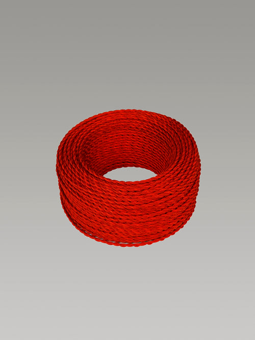 Cavo 1M Red Braided Twisted 2 Core 0.75mm Cable
