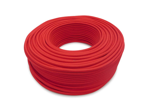 Cavo 1M Red Braided 3 Core 0.75mm Cable