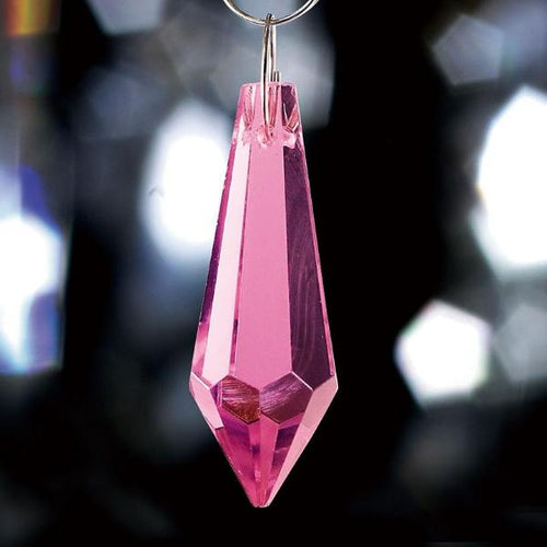 Crystal Drop Without Ring Pink 36mm