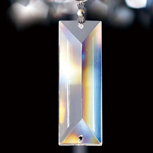 Crystal Rectangle Without Ring Clear 62x22mm