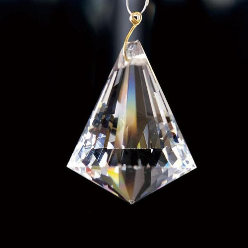 Crystal Pyramid Without Ring Clear 42mm