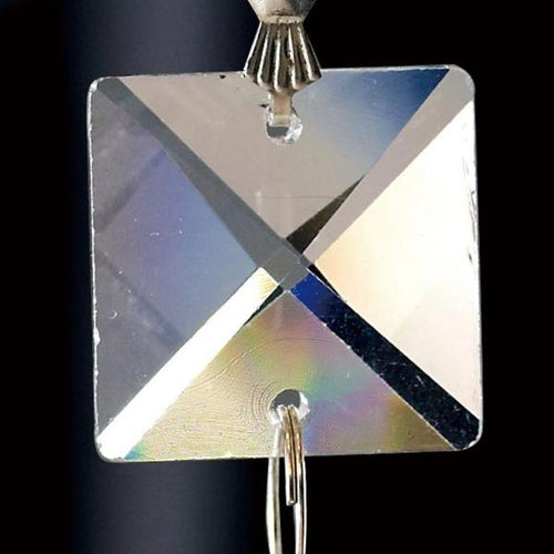 Crystal Square Without Ring Clear 20mm