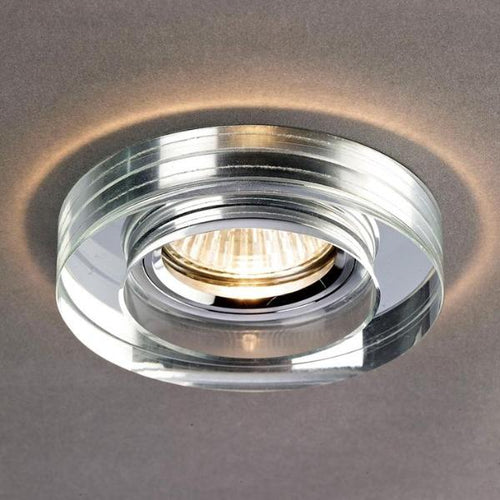 Crystal Downlight Deep Round Rim Clear
