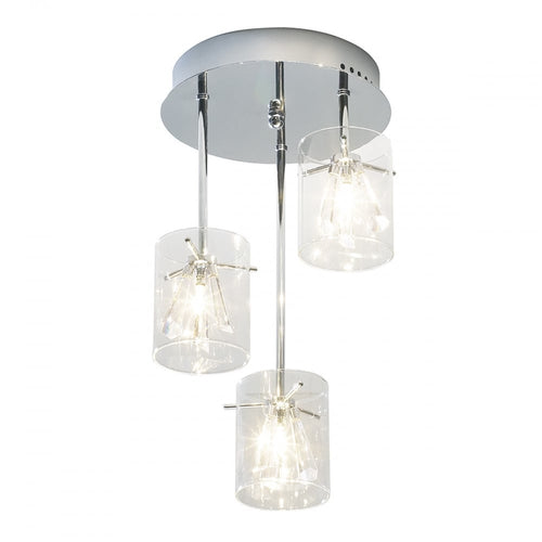 Somerset 3 Light Semi Flush