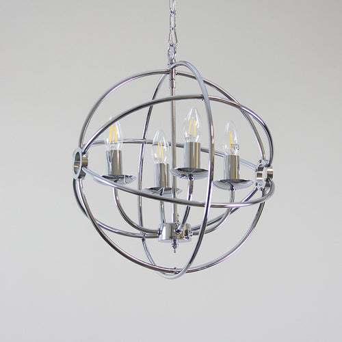 Orion 6 Lt. Chrome Chandelier