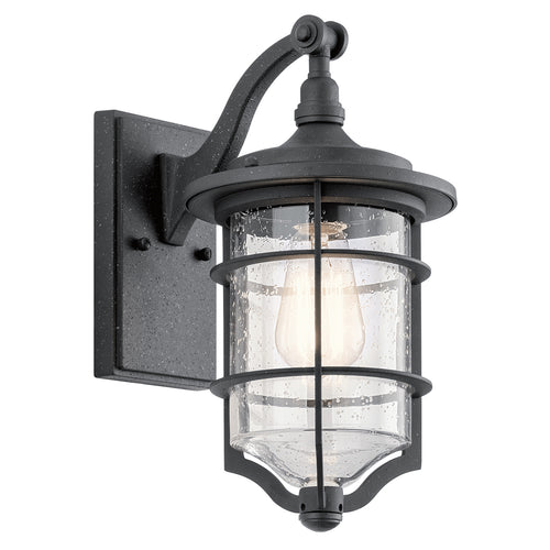 Royal Marine Small Wall Lantern Distressed Black