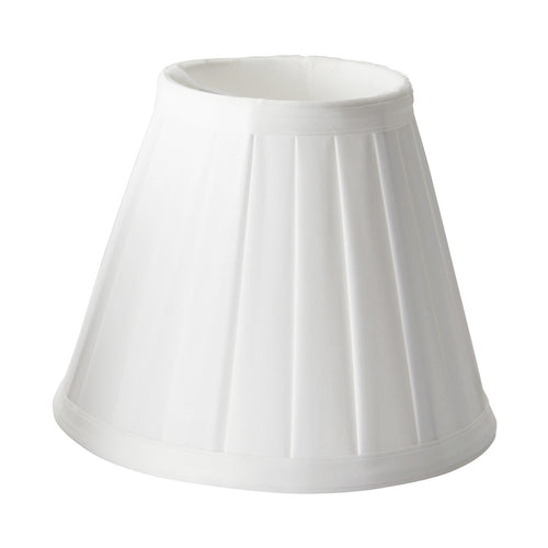Clip Shades Pleated White Candle Shade