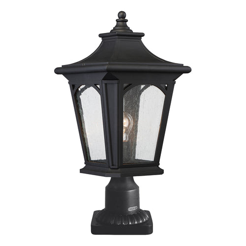 Bedford Medium Pedestal Lantern - Mystic Black