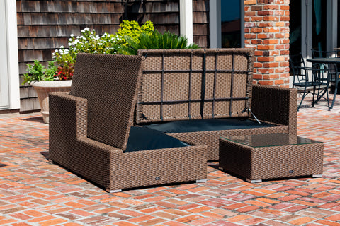Tristano 3 Piece Wicker Furniture Sofa Set