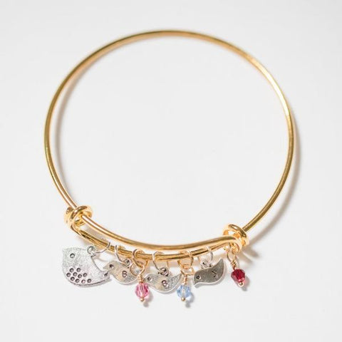 Mama Bird Bracelet Gold - Shop Kindred Together