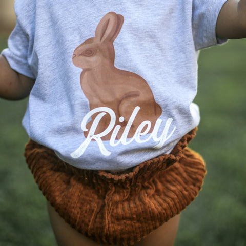 Milk Chocolate Bunny Personalized Toddler Tee