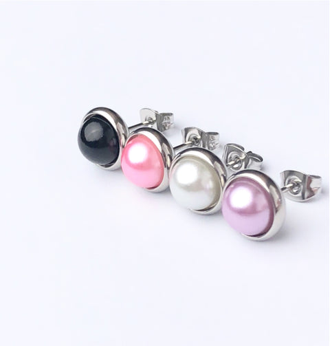 Pearl Stud 8mm Earrings