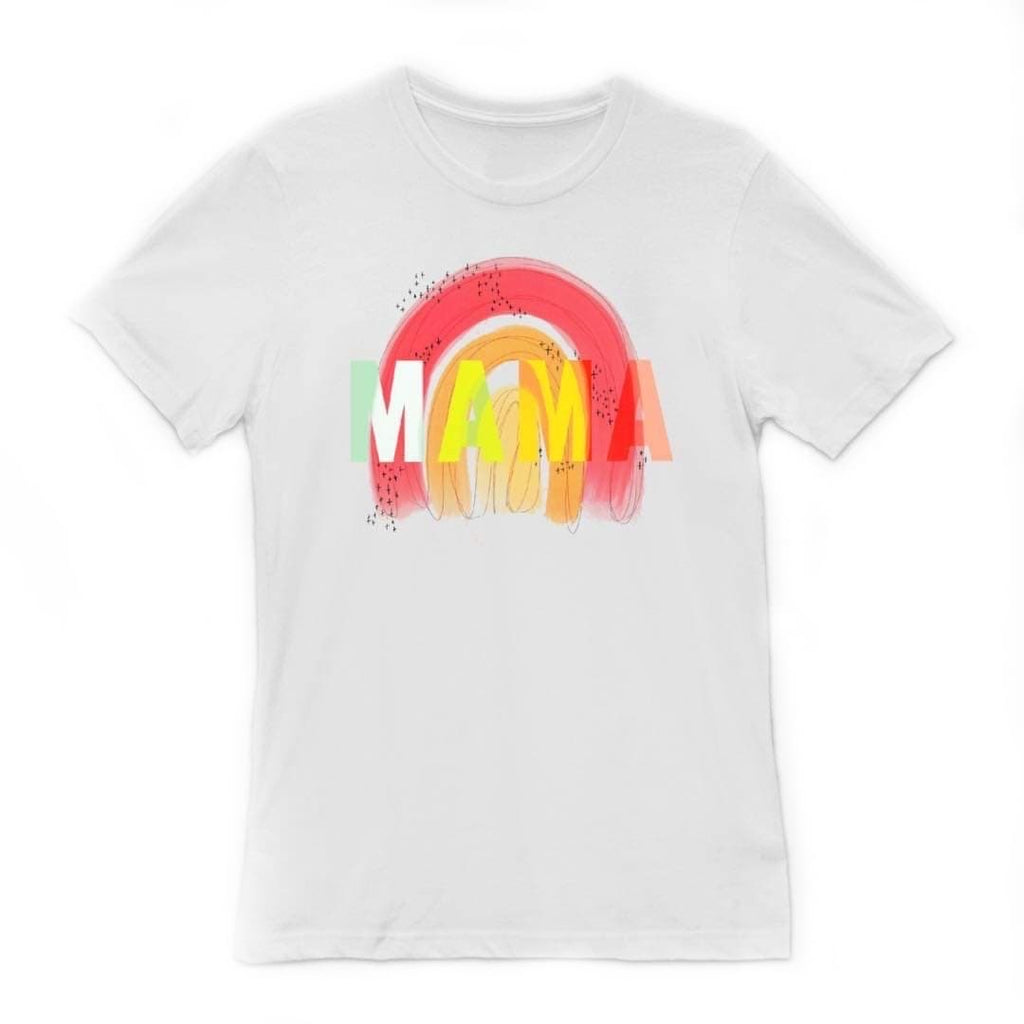 Rainbow Mama White Adult Tee
