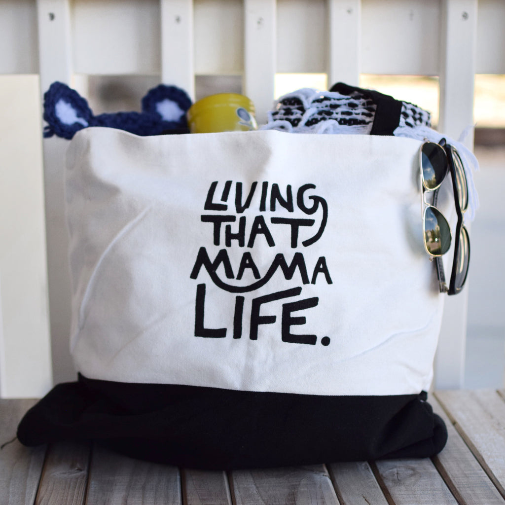 Living That Mama Life™ Tote- Oversized and Canvas - Shop Kindred Together