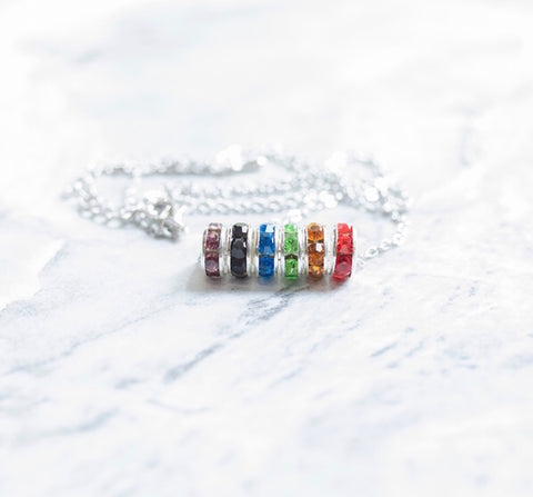 Rainbow Fidget Necklace