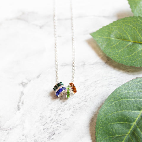 Fidget Birthstone Necklace