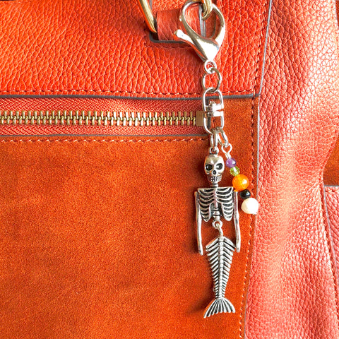 Haunted Waves Skeleton Mermaid- Clip or Necklace - Shop Kindred Together