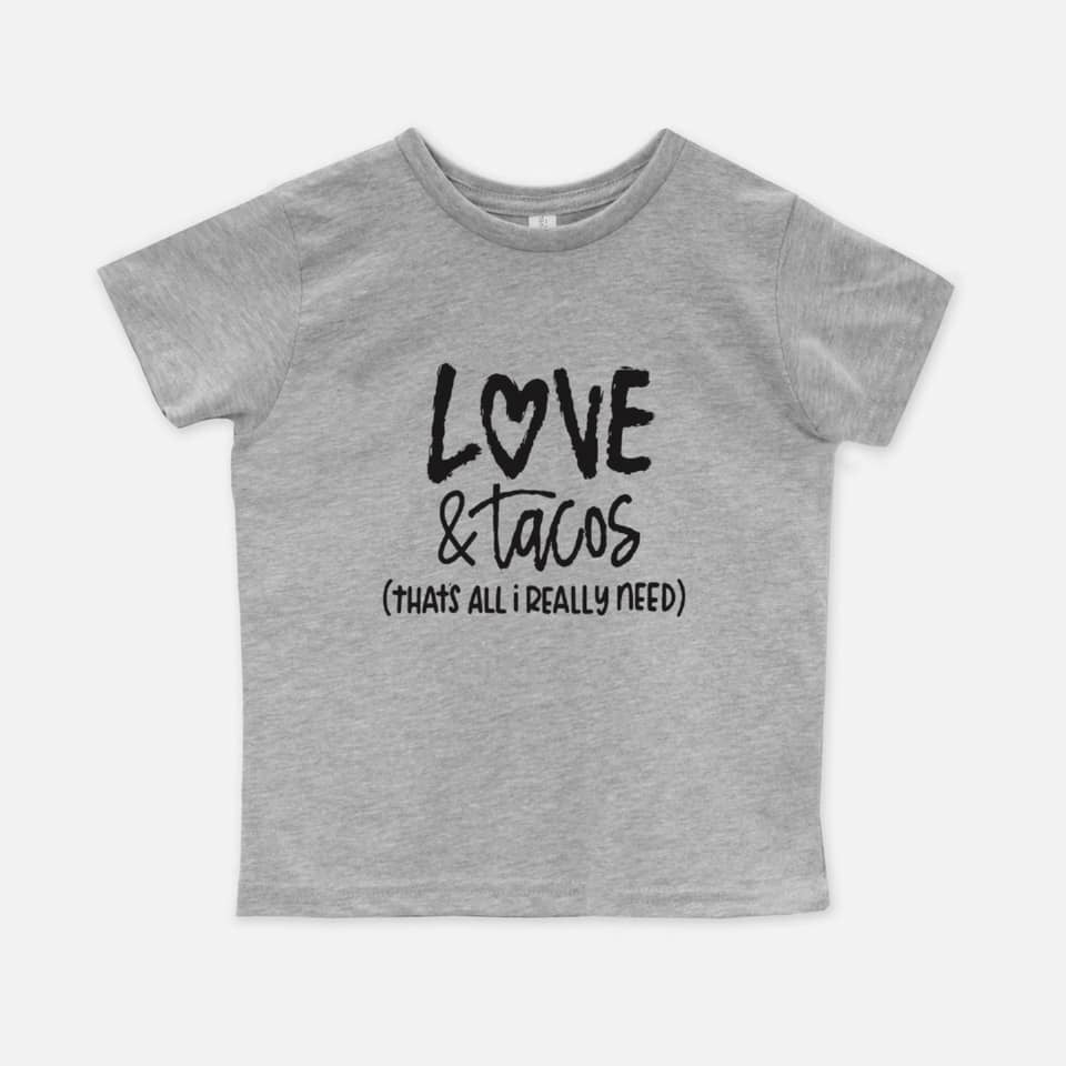 Love and Tacos Toddler Tee