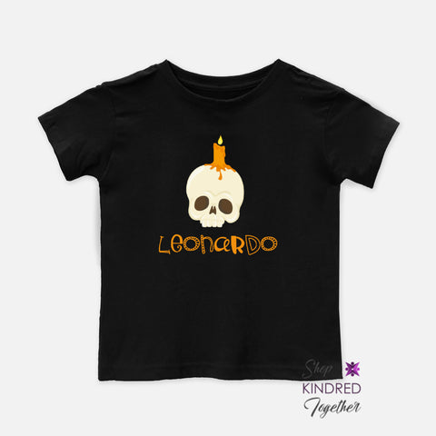 Mr. Bones Personalized Toddler Tee