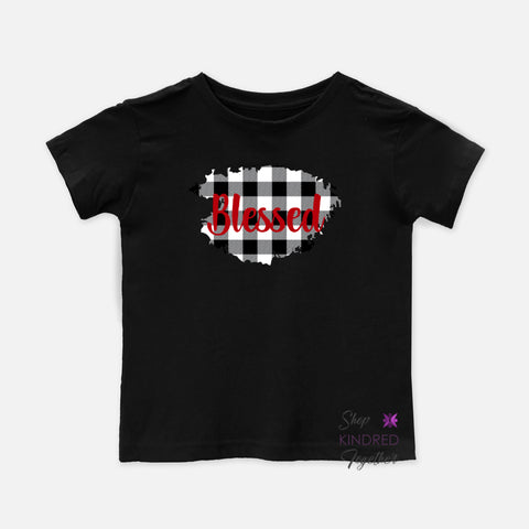 Gingham Personalized Toddler Tee