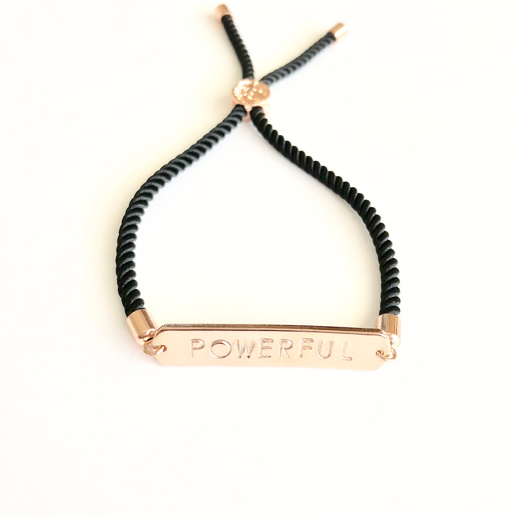 Empowered Rose Gold Cord Bracelet - Shop Kindred Together