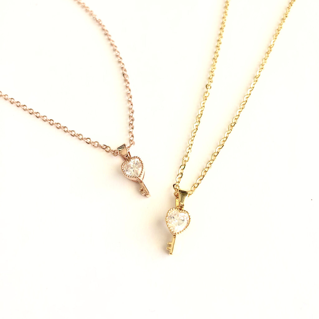 Key to My Heart Dainty Necklace - Shop Kindred Together