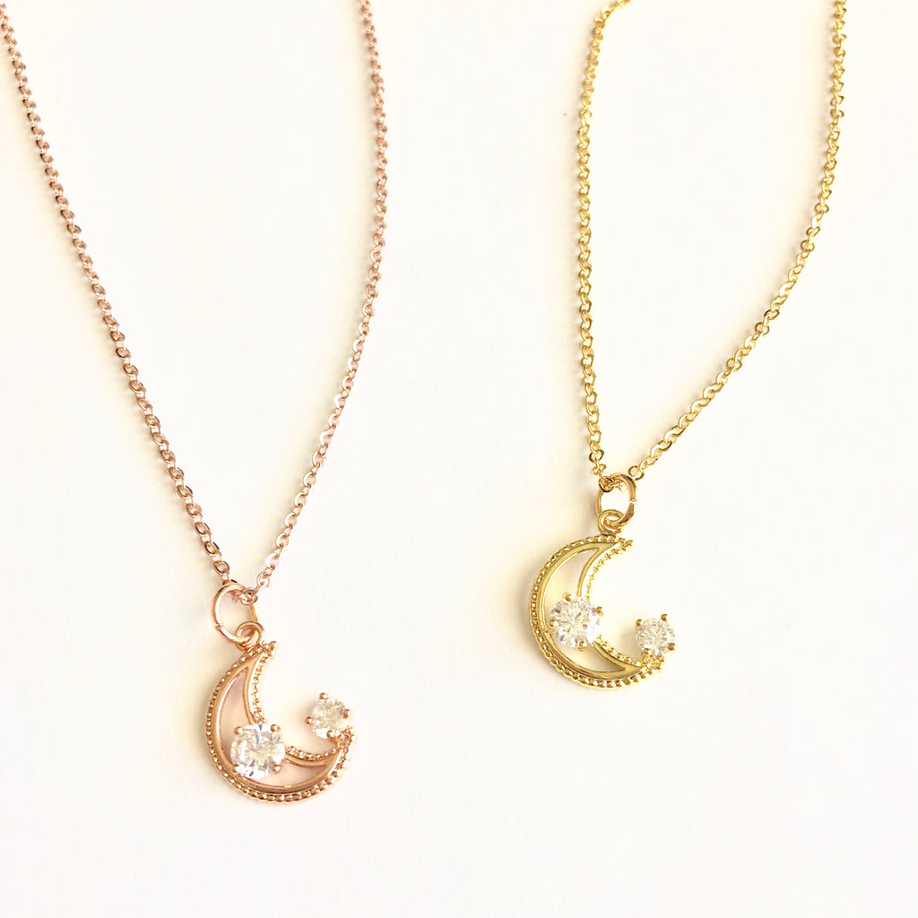 My Moon and Stars Dainty Necklace - Shop Kindred Together