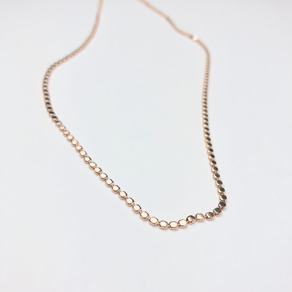 Disc Choker Rose Gold Necklace - Shop Kindred Together