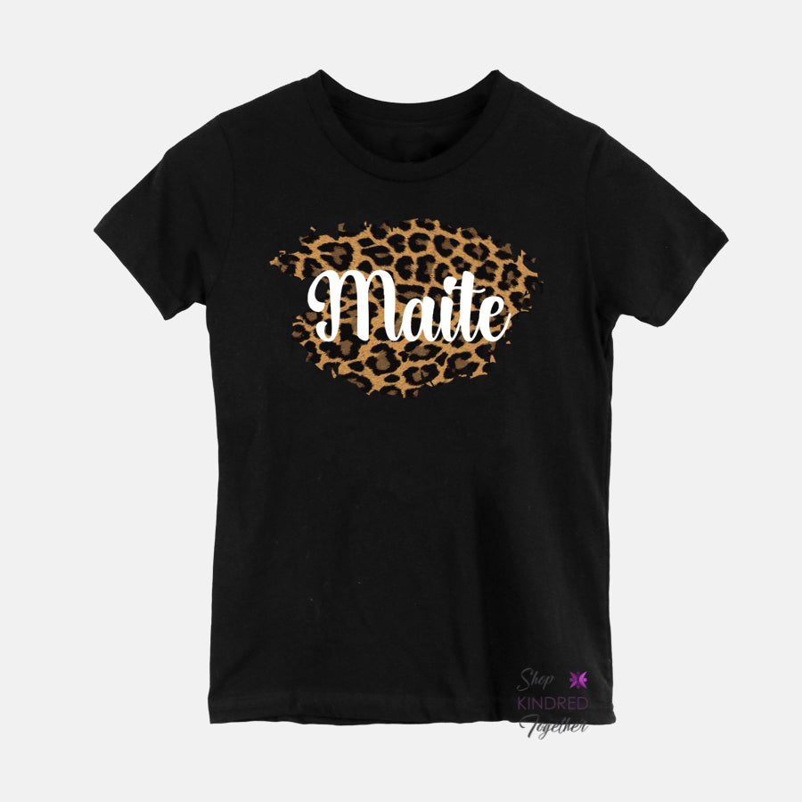 Leopard Personalized Youth Tee