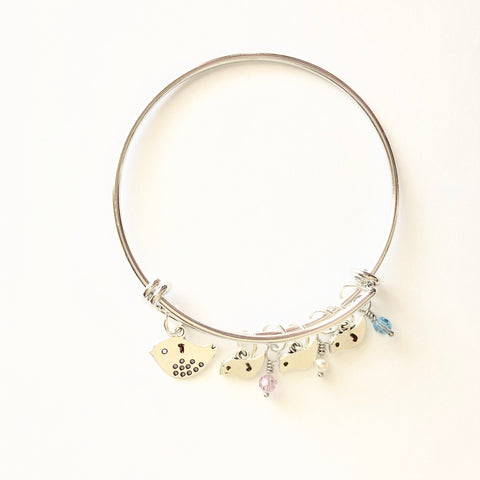 Mama Bird Bracelet White Gold - Shop Kindred Together