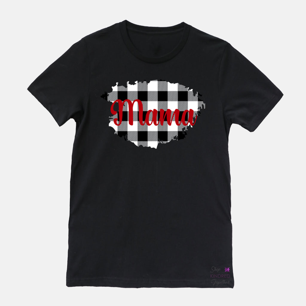 Gingham Personalized Adult Tee