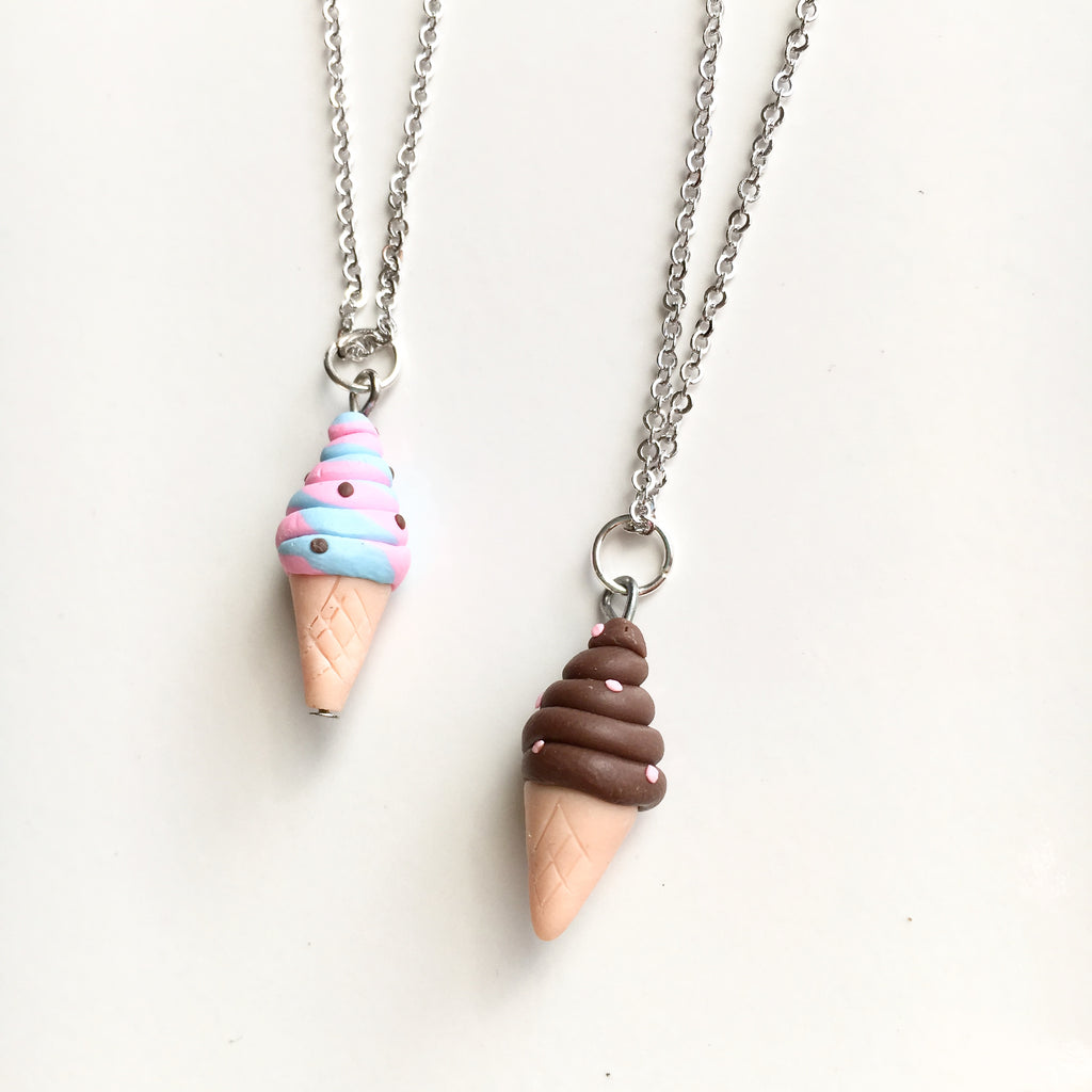 Ice Cream Cone Necklace Foodie - Shop Kindred Together