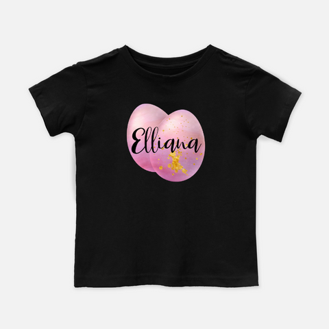 Pink Egg Personalized Toddler Tee