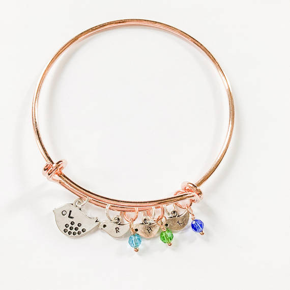 Mama Bird Bracelet Rose Gold - Shop Kindred Together