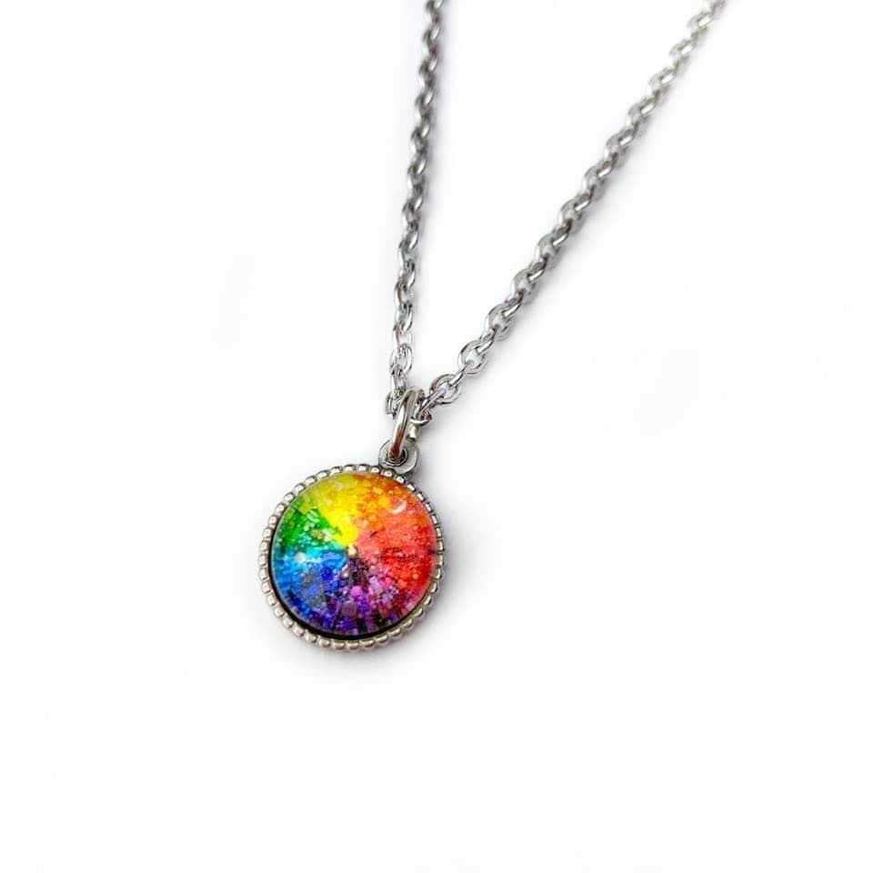 Rainbow Art Necklace