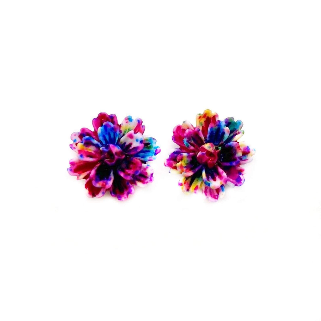 Rainbow Carnation Earrings