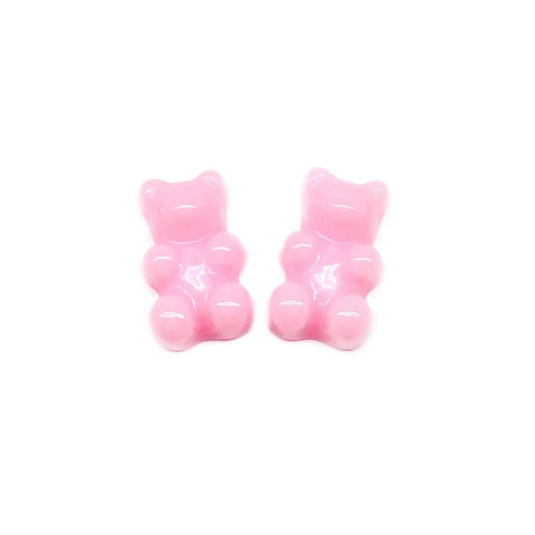 Bubble Gum Pink Gummy Bear Earrings