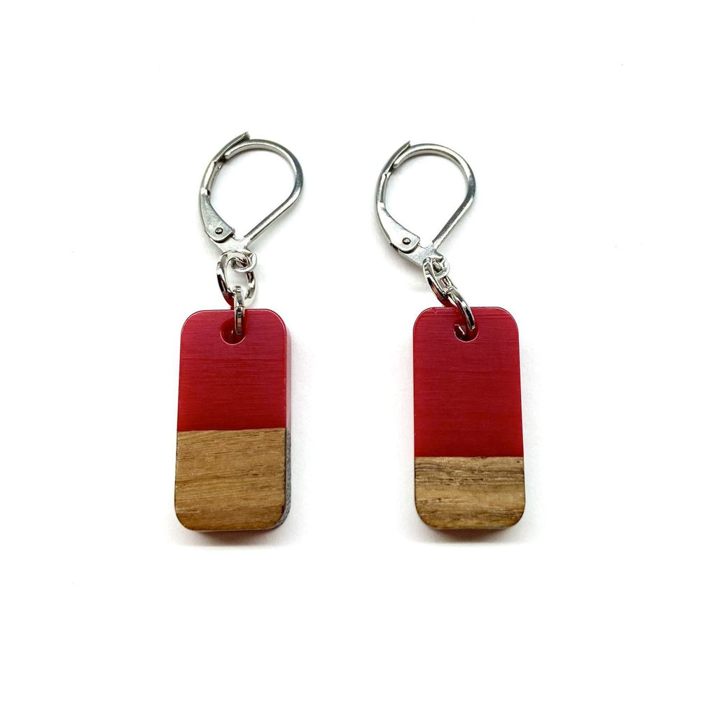 Red Jennifer Wooden Dangle