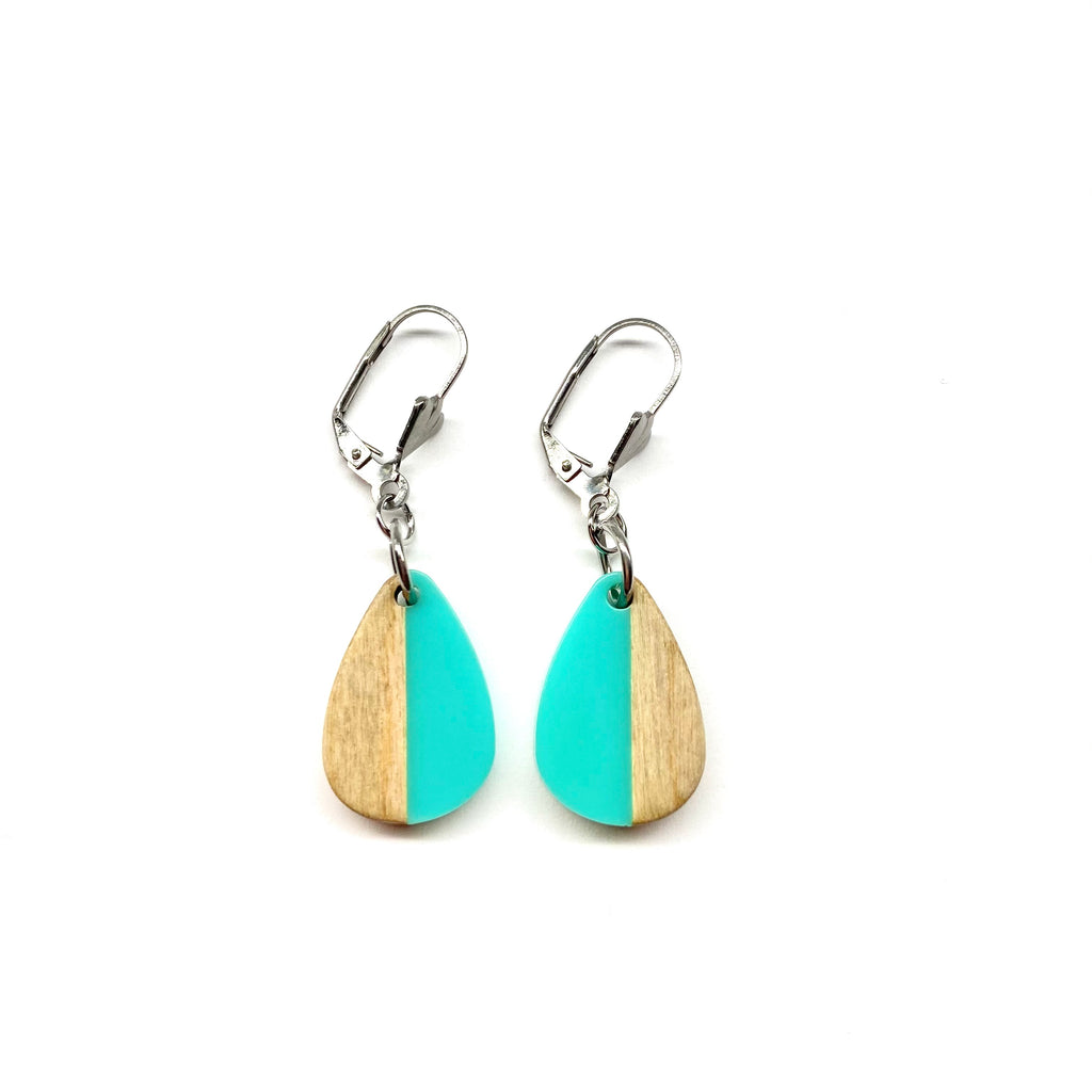 Turquoise Jada Wooden Dangle