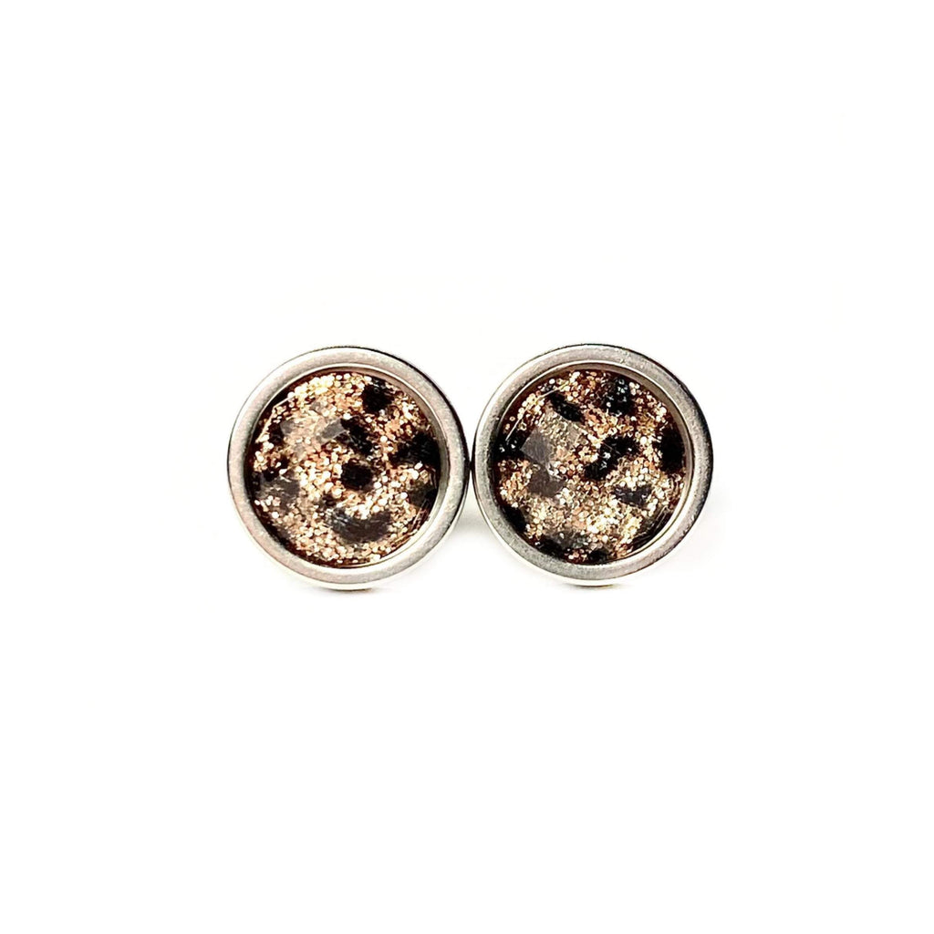 Leopard Stud Earrings 8mm